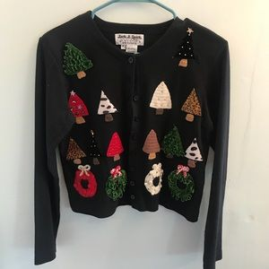 •Jack B Quick• Vintage Christmas Tree Cardigan for sale